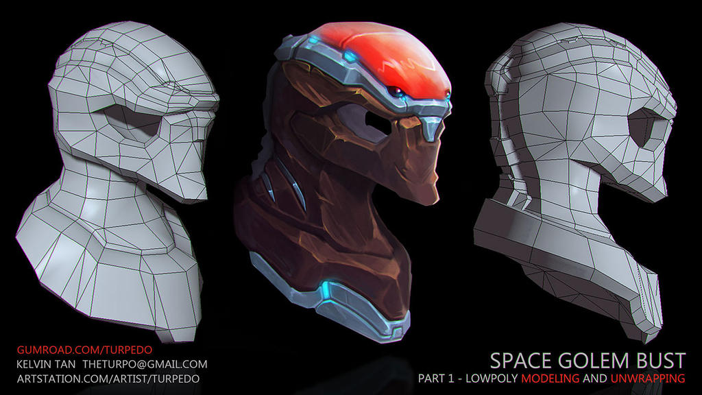 Gumroad Space Golem - Part 1 - Modeling/Unwrapping by turpedo on
