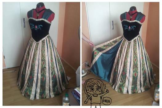 Anna Cosplay WIP (Coronation dress) - Frozen