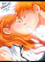 Bleach - IchiHime Kiss by IchigoVizard96