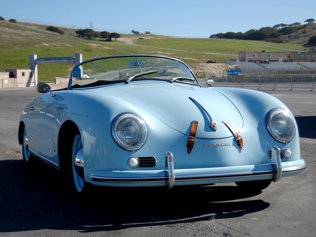 Sky blue Porsche 356 Speedster