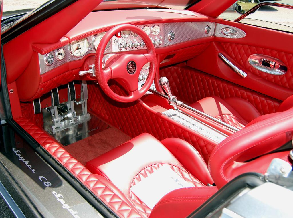Spyker C8 Spyder interior by Partywave on DeviantArt