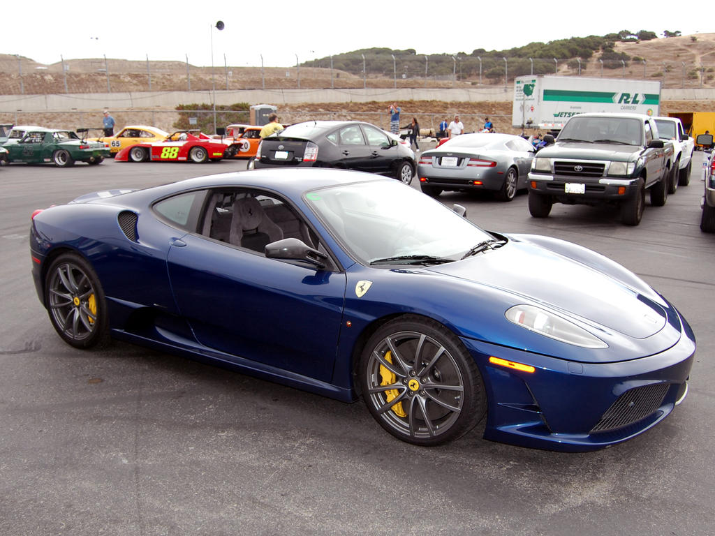 Blue Ferrari F430 Scuderia By Partywave On Deviantart