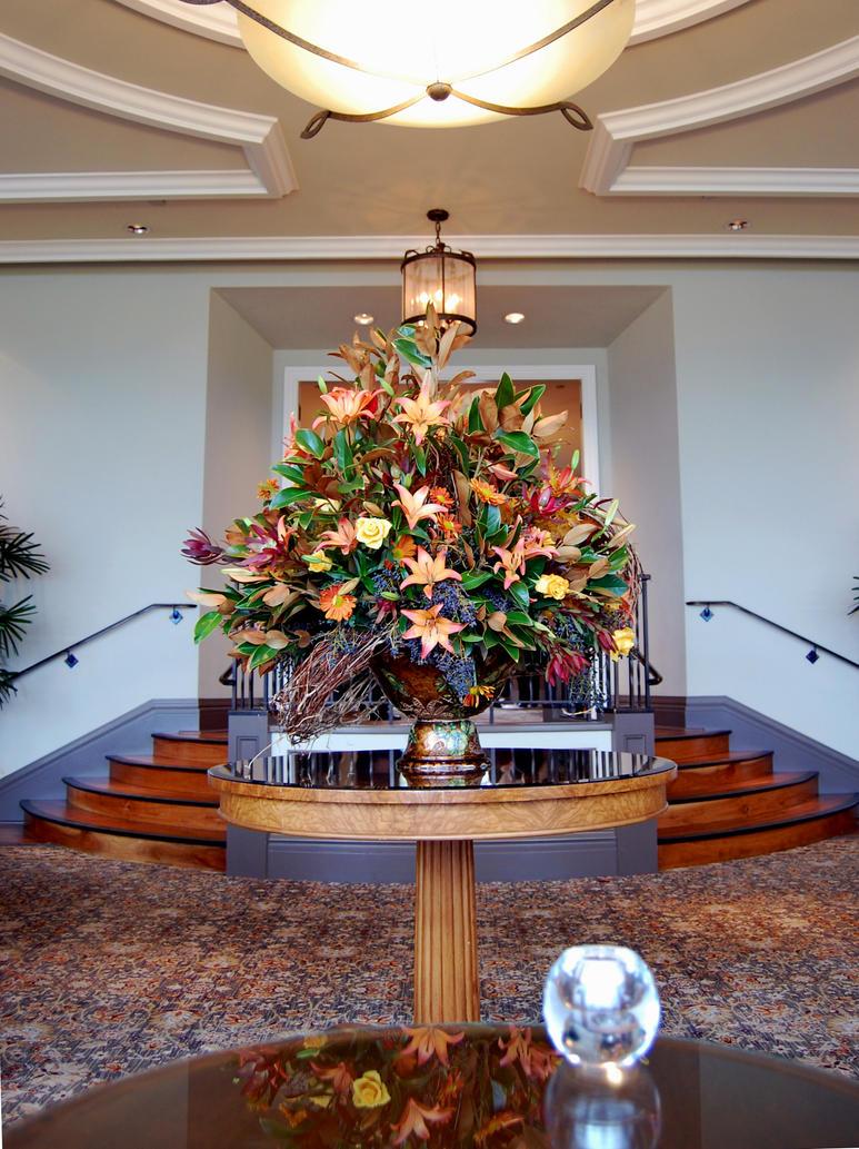 Pebble beach foyer flower vase by partywave on deviantart for Foyer flower arrangement