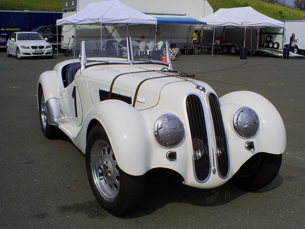 1938 BMW 328 convertible front by Partywave on DeviantArt