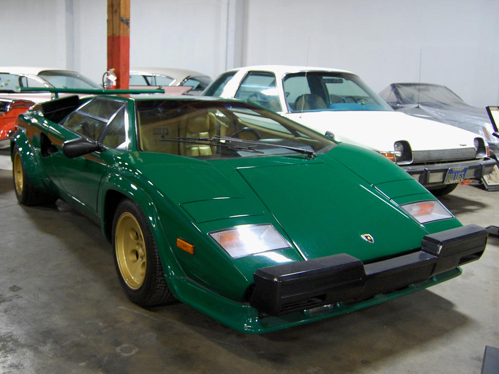 Lambo Countach In Green N Gold By Partywave On Deviantart