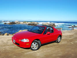 Honda Del Sol near Lover's Point in PG, CA by Partywave