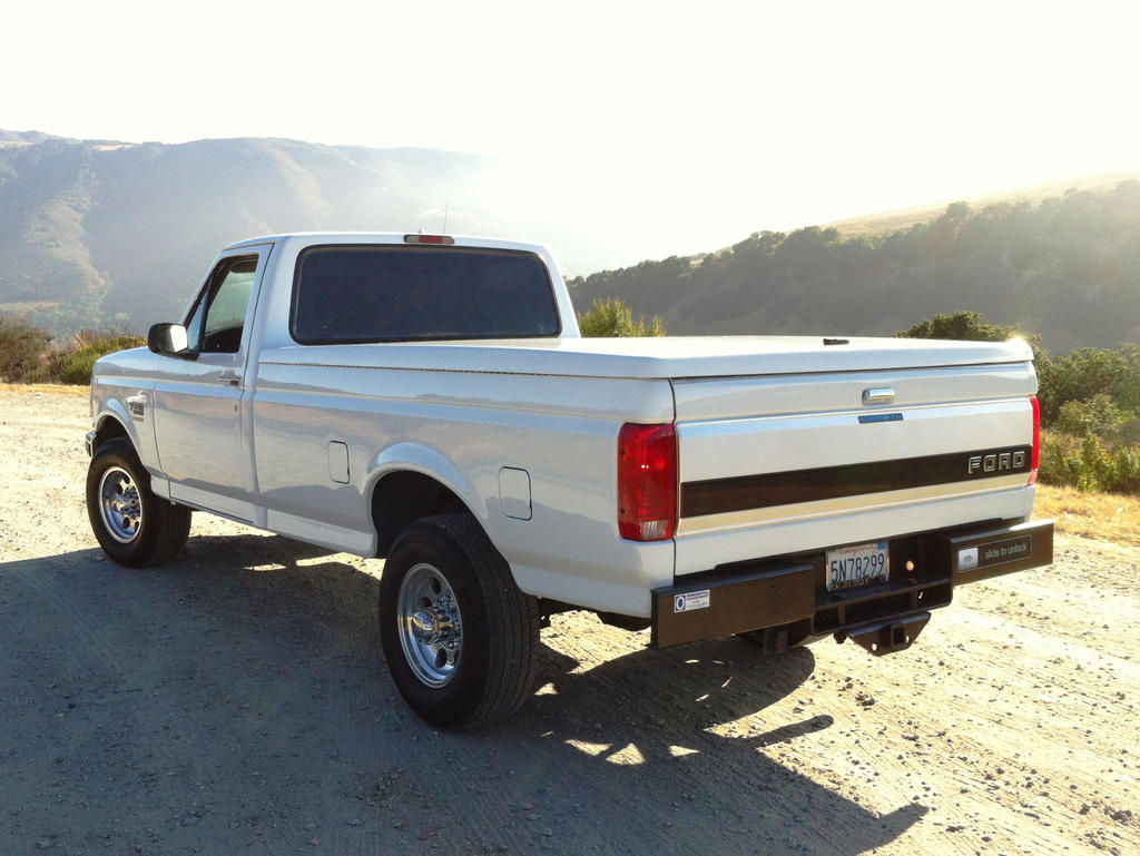 after 1997 ford f250 powerstroke 7 3 rear view by partywave on deviantart. Black Bedroom Furniture Sets. Home Design Ideas