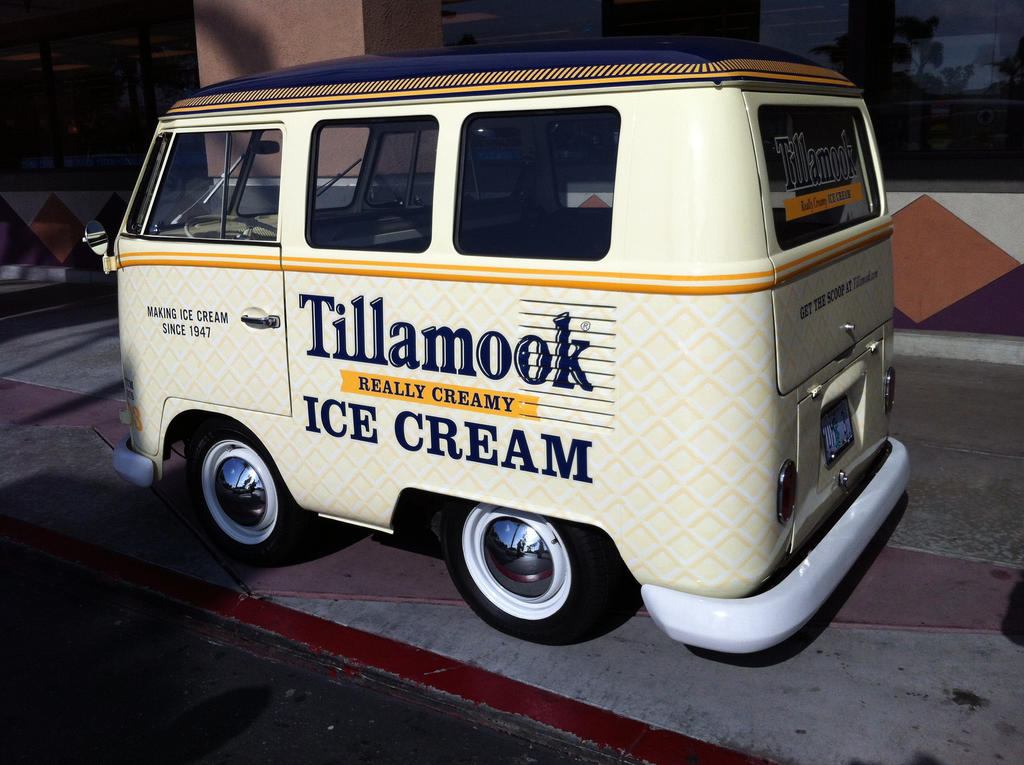 VW mini microbus shortened ice cream truck by Partywave