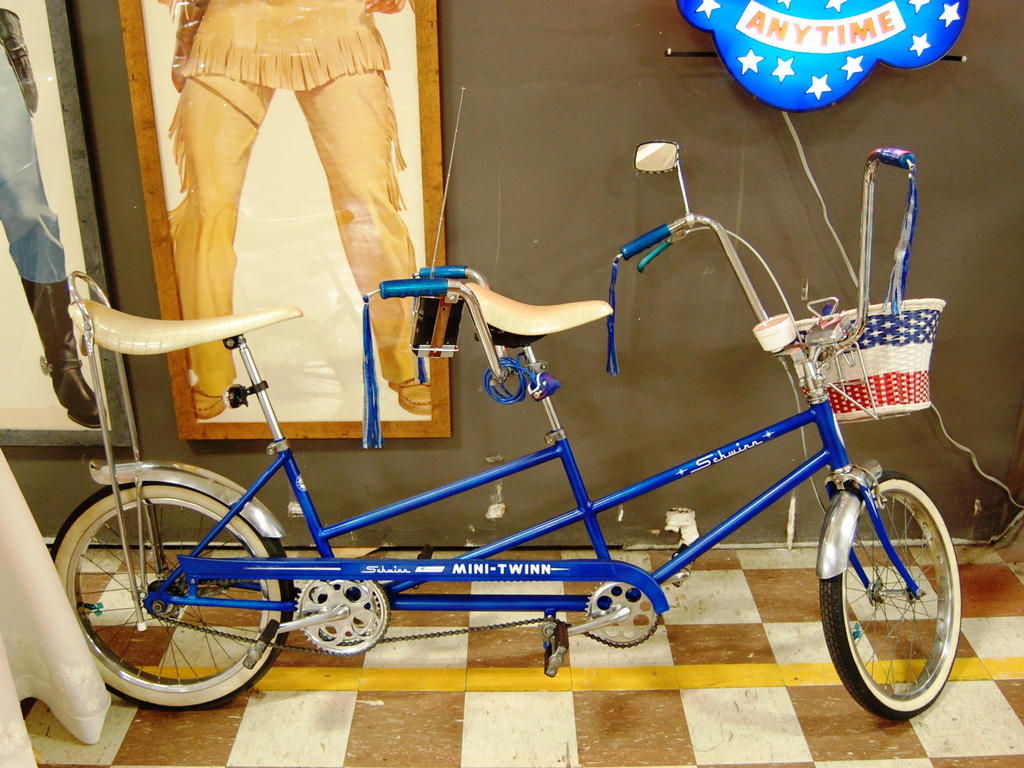 Schwinn Mini Twinn tandem bicycle MurphyAutoMuseum by Partywave