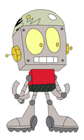 Robot Jones in ok ko art style