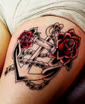 anchor with roses