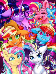 Mane Six Portrait