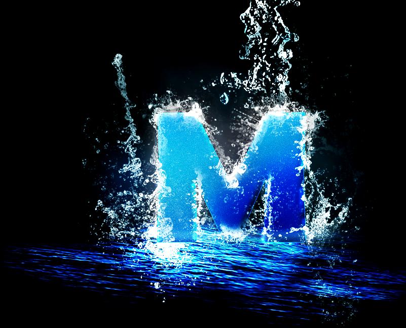M Letter Wallpapers Desktop 初音ミクdark『M�...