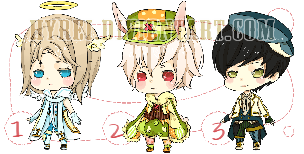 Adoptable : Random Male Chibi Set 1 [CLOSED] by HyRei