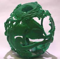 Dragon Ostrich Egg by Ranasp