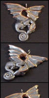 Dragon Pendant Pewter by Ranasp