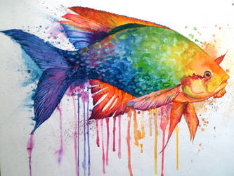 Colourful fish by lushinnickii