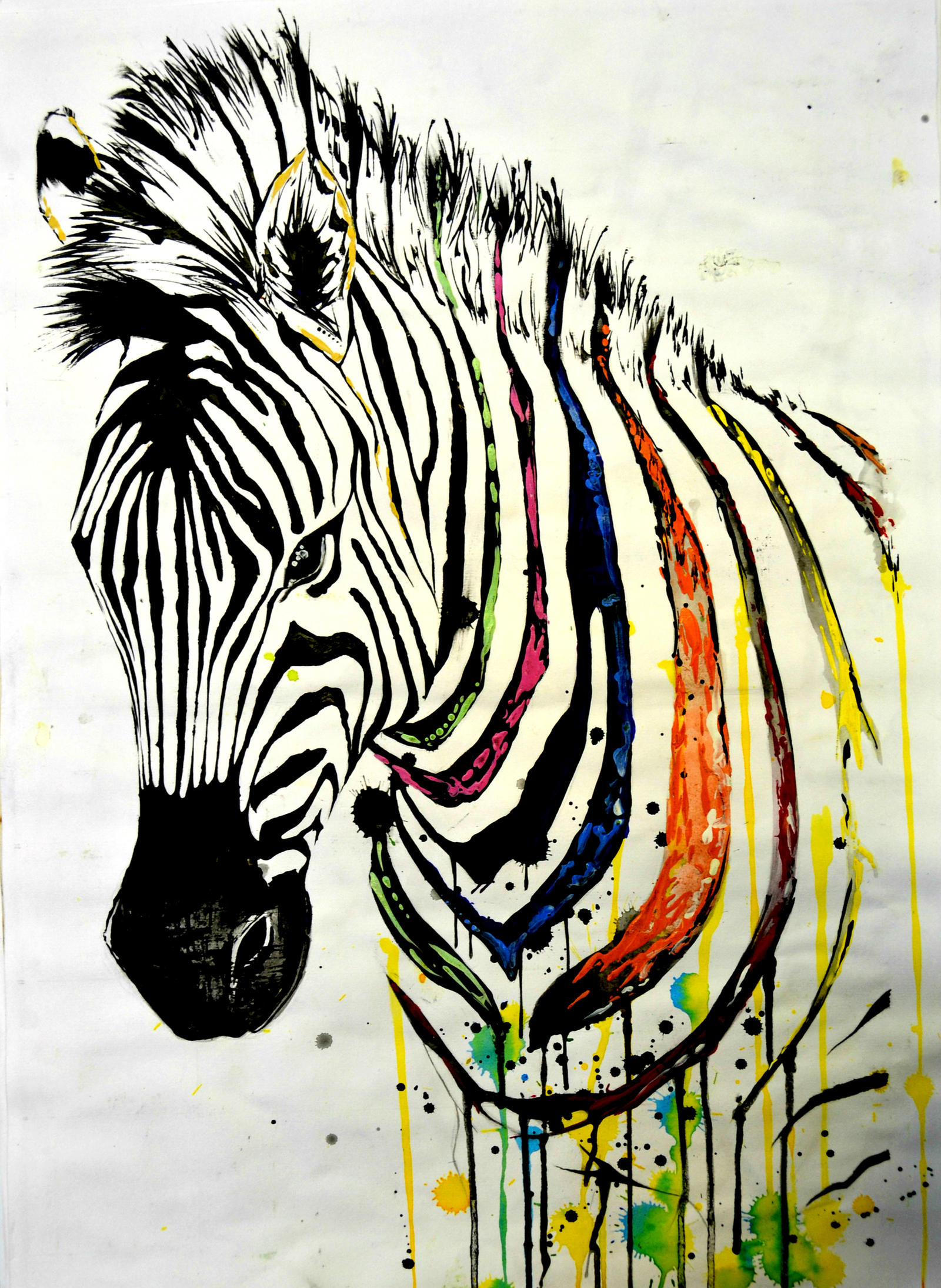 Zebras Paintings Zebra painting by lush...