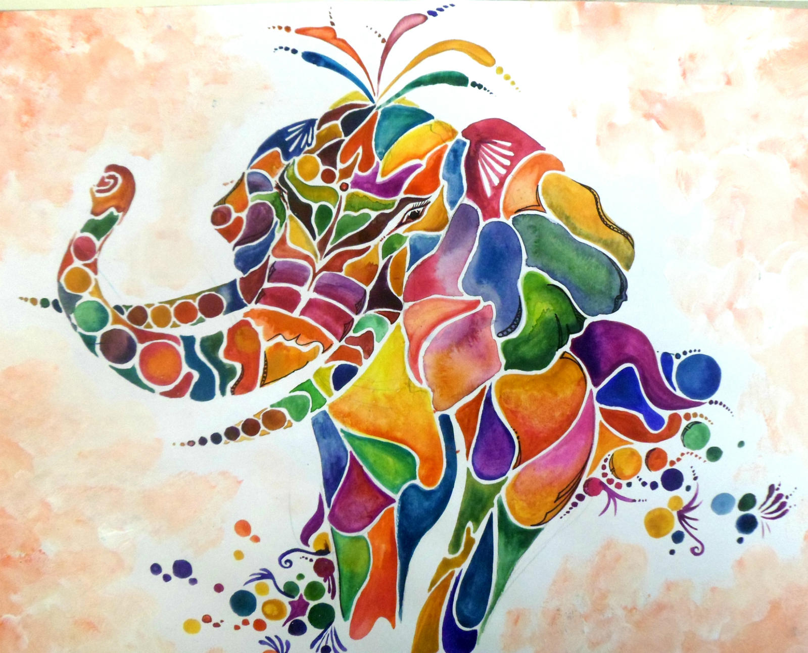 Paintings Abstract Elephants | Emoticon Symbols Gallery