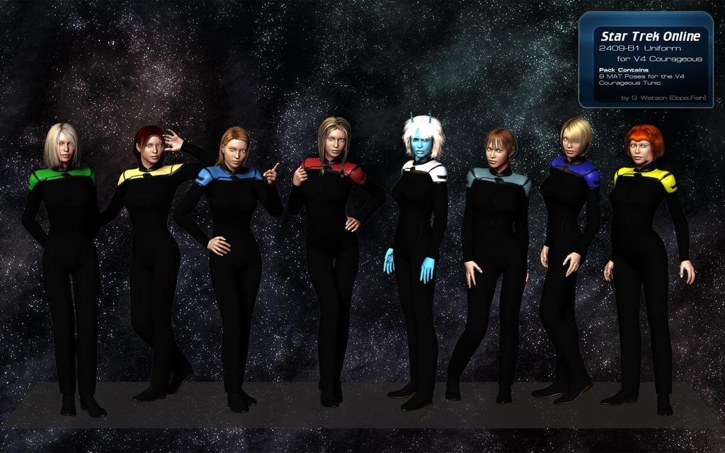 STO Uniform for Poser - Courageous V4 by DopiusFishius
