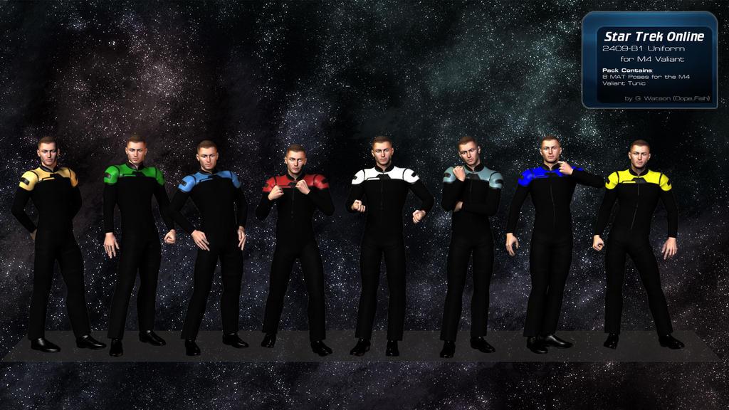 STO Uniform for Poser - Valiant M4 by DopiusFishius