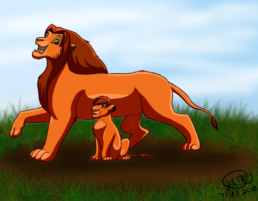 Simba and Kopa by Lion...