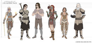 The Sunder Hunt - Character Height Lineup