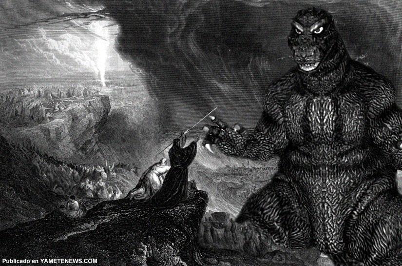 Moises vs Godzilla by yametenews