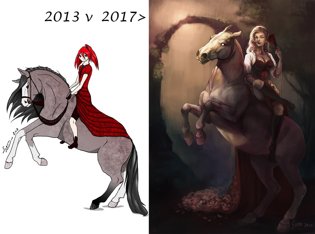 2013 vs 2017 redraw by GureeOokami