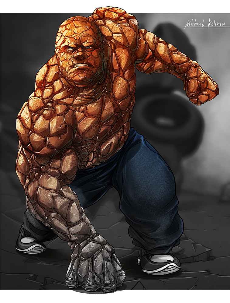 Fantastic Four - the THING by MichaelKalinin on DeviantArt
