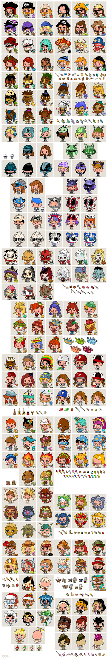 Avatars Playpop by cecile-appert