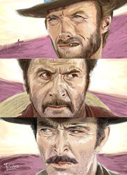 Tribute to Sergio Leone by Erebus-art