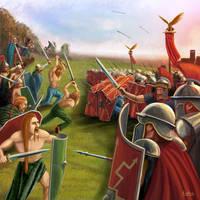 Roman battle by Erebus-art
