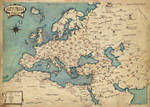 Map of Europe of Anubia