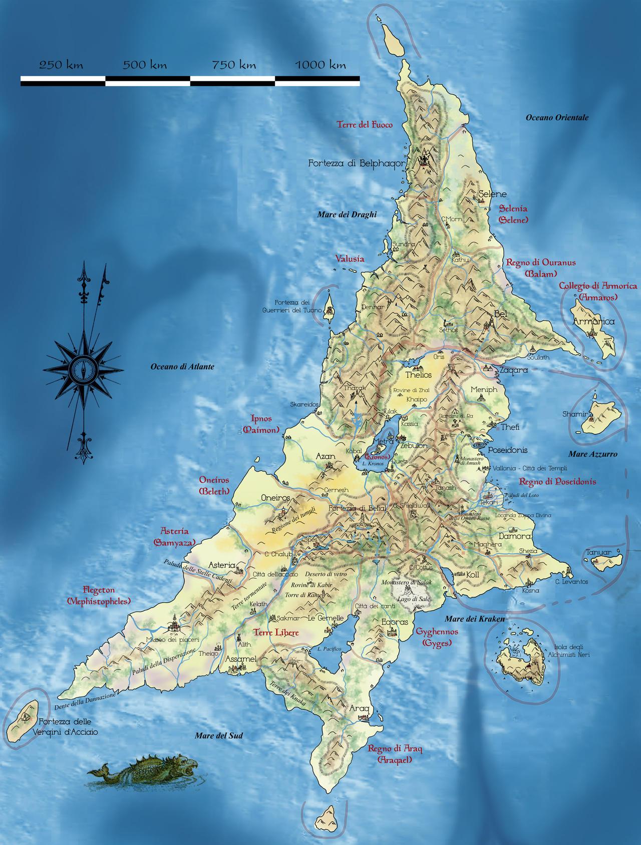 Map of Aztlan/Atlantis by Erebus-art on DeviantArt