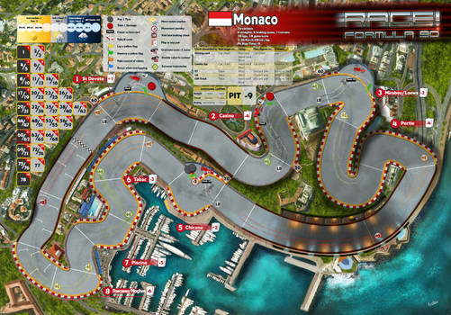 Race! Formula 90 Expansion #1 Monaco track