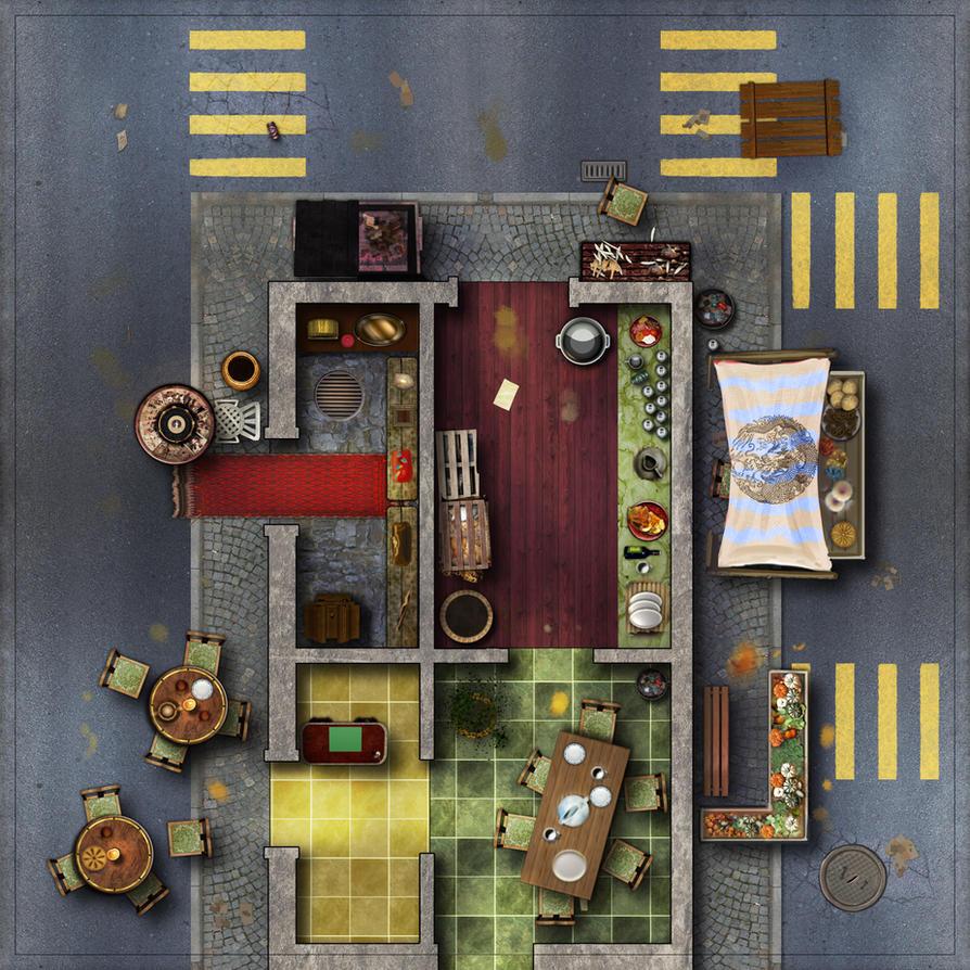 City Tile 4-risto-market by Erebus-art