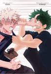 Boku No Hero Academia: Bakugou vs Midoriya