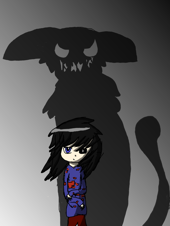 Monster Shadow Girl by zencat61