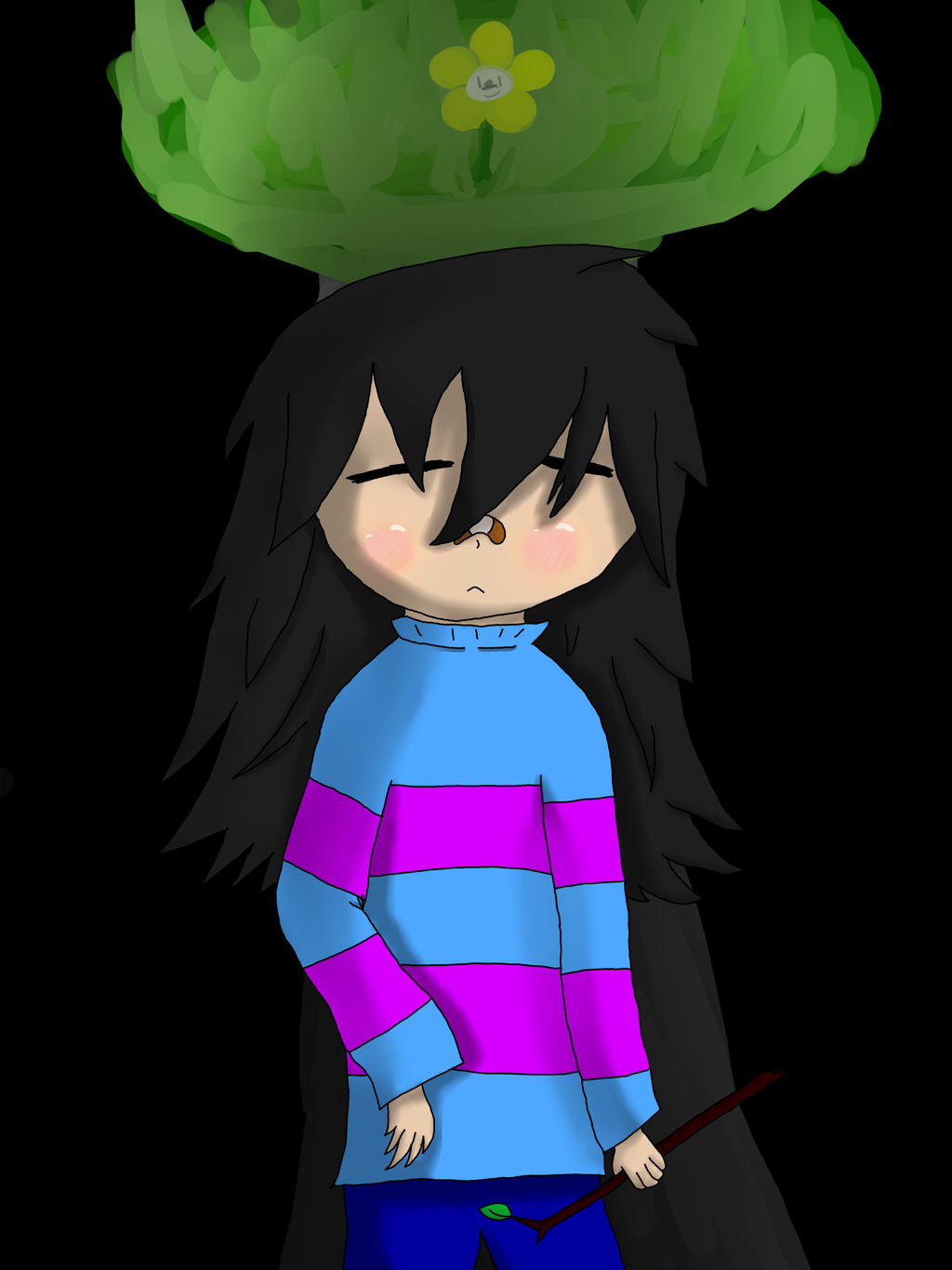 Me As Frisk by zencat61