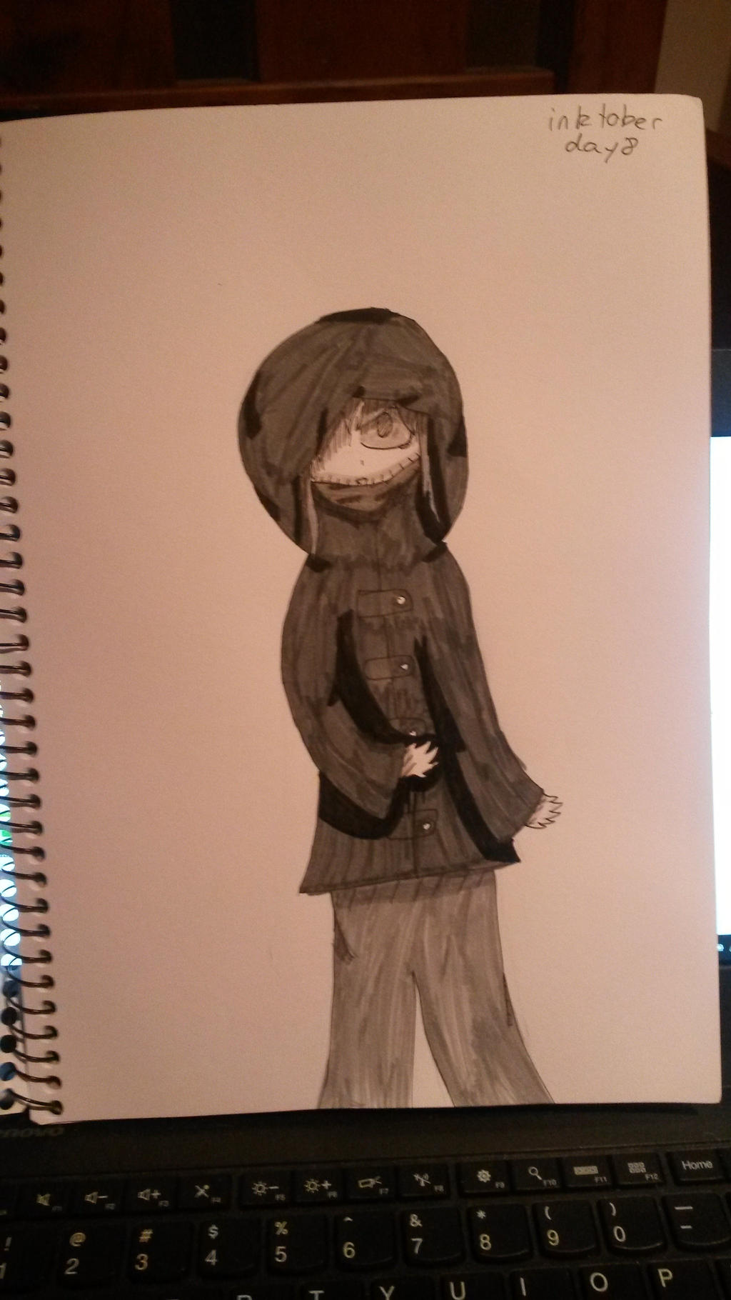 Inktober Day 8-Hanakammuri Early Concept art by zencat61
