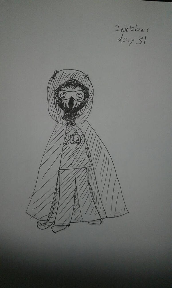 Inktober Day 31: Halloween Costume by zencat61