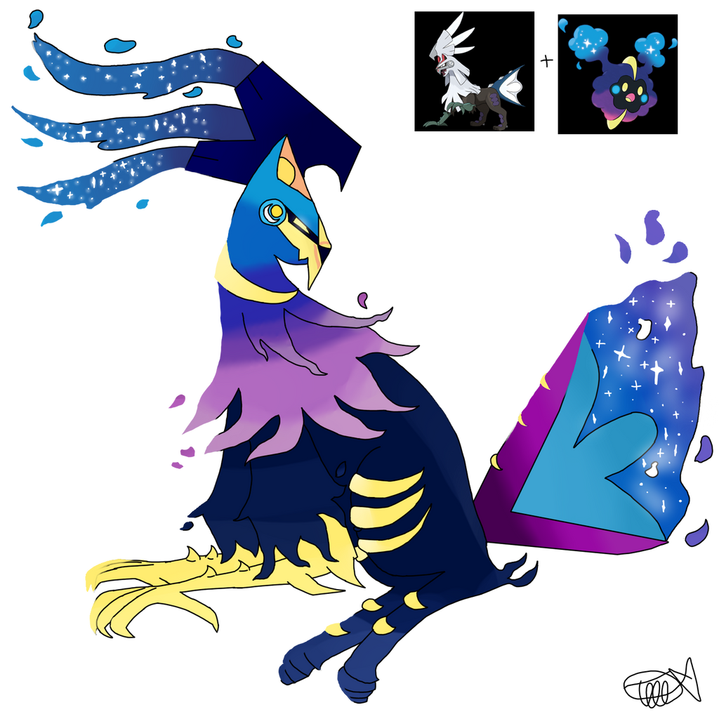 Galaxy (Cosmog and Silvally fusion) by zencat61