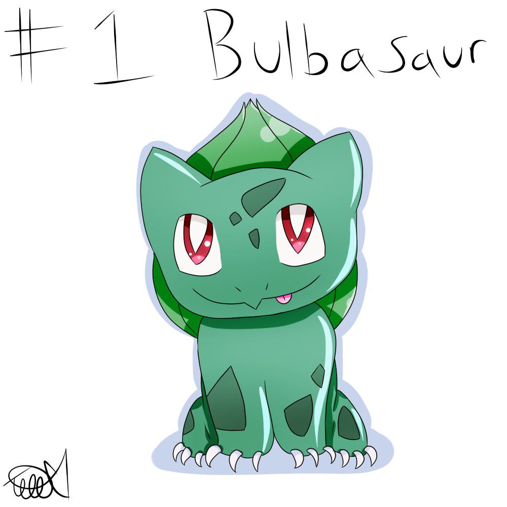 Pokemon #1: Bulbasaur by zencat61
