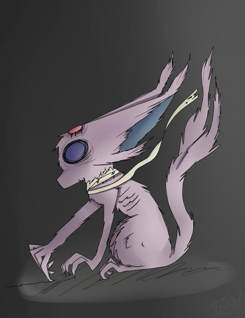 Creepy Espeon by zencat61