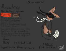 Me As A Pokemon: Meaulcoy by zencat61