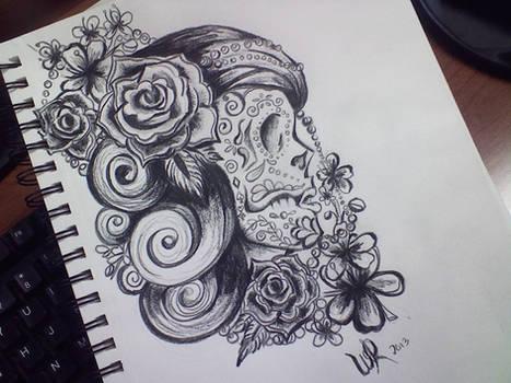 Sugar Skull Design - Sketch