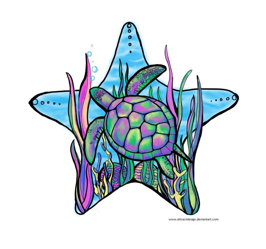 rainbow sea turtle by ayeri on deviantart. Black Bedroom Furniture Sets. Home Design Ideas