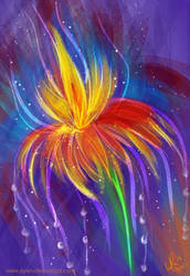 Rainbow Flower by Ayeri