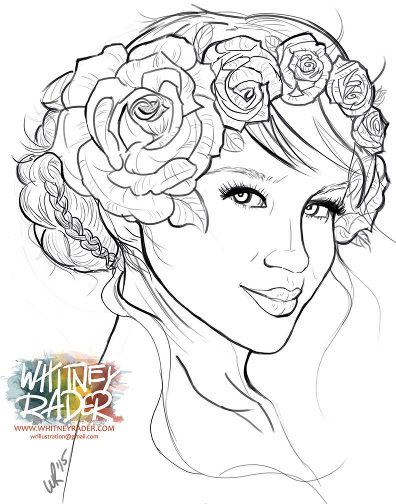 Flower Girl - Sketch WIP by Ayeri on DeviantArt